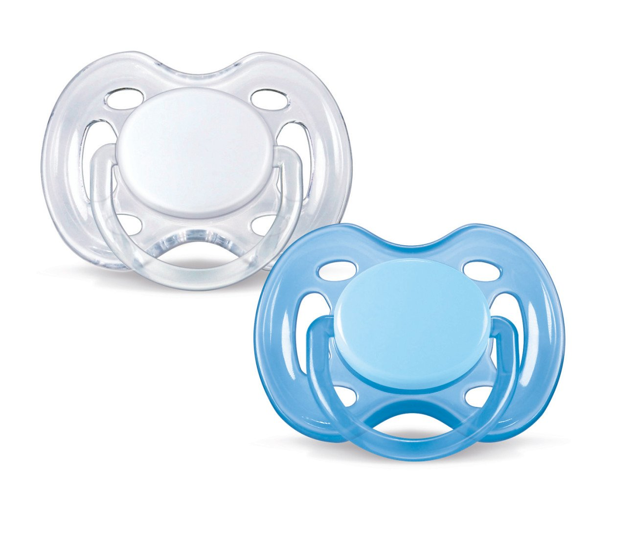 Philips Avent Orthodontic Pacifier, 0-6 Months, Free Flow, Blue/White, SCF178/25