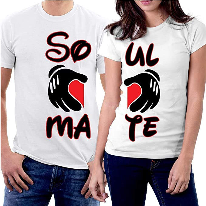 1a6988819d PicOnTshirt Funny Matching Couple Lover Novelty T-shirts Men XXL / Women XS  Design 144