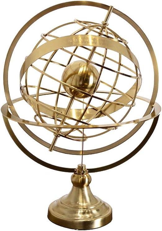 Zzyff Spinning Globe Adornos Artesanía De Metal De Estilo Europeo ...