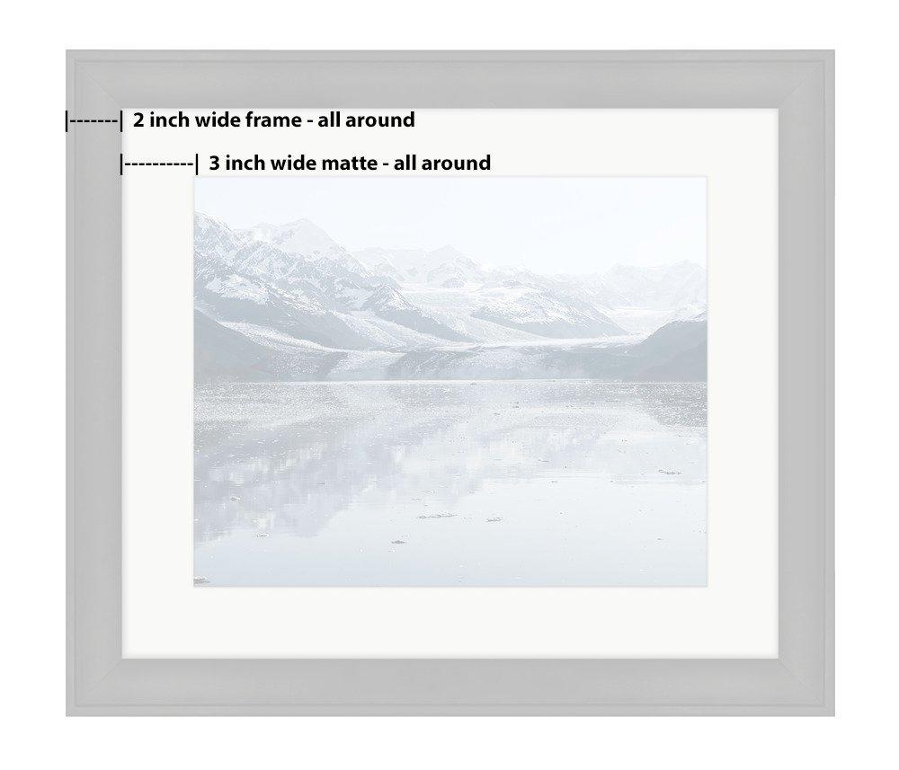 Ashley Framed Prints, Harvard Glacier At College Fjord Prince William Sound Alaska Wall Art Decor Giclee Photo Print In Black Wood Frame, Soft White Matte, Ready to hang, 16x20 Art by Ashley Framed Prints (Image #2)