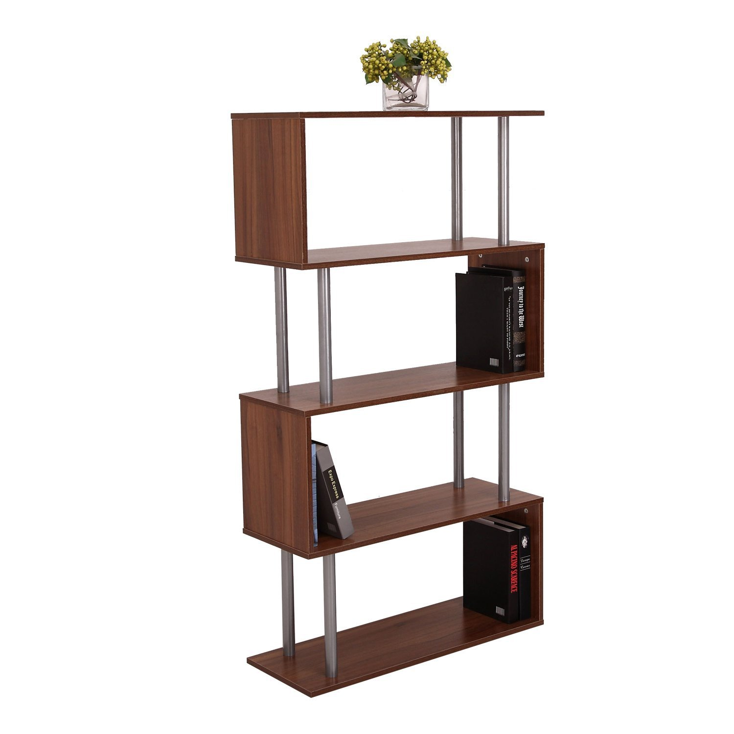 wood office cabinet. HOMCOM Wooden Wood S Shape Storage Unit Chest Bookshelf Bookcase Cupboard Cabinet Home Office Furniture New (Walnut): Amazon.co.uk: Kitchen \u0026 O