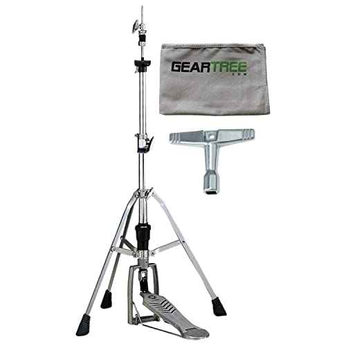 Yamaha HS 740A Medium Weight Chain LinkedHi Hat Stand w/Cleaning Cloth and Drum