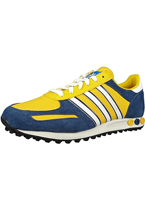 ADIDAS LA Trainer Sneaker Giallo Blu Bianco Giallo G95896, Adidas Unisex:44