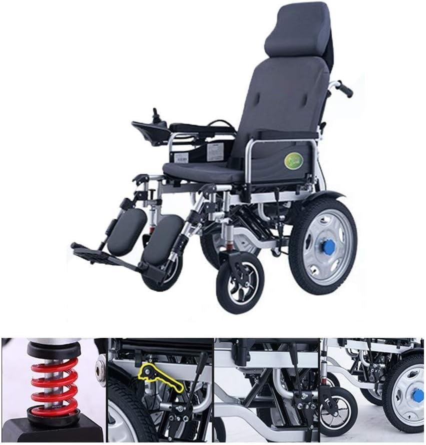 Silla de ruedas eléctrica, seguro y cómodo for sillas Vespa mecánico motorizado con 360 Manual ° Controlador Rocker Silla de ruedas eléctrica Modo Dual Sport batería de litio 15-20km batería de larga