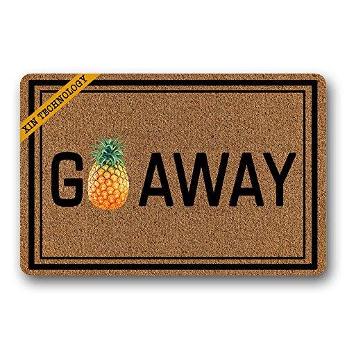 - Artsbaba Doormat Go Away Pineapple Door Mat Rubber Non-Slip Entrance Rug Floor Door Mat Funny Home Decor Indoor Mats 23.6 x 15.7 Inches