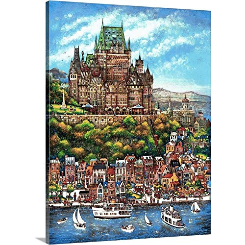 Bill Bell Premium Thick-Wrap Canvas Wall Art Print Entitled Quebec City 18