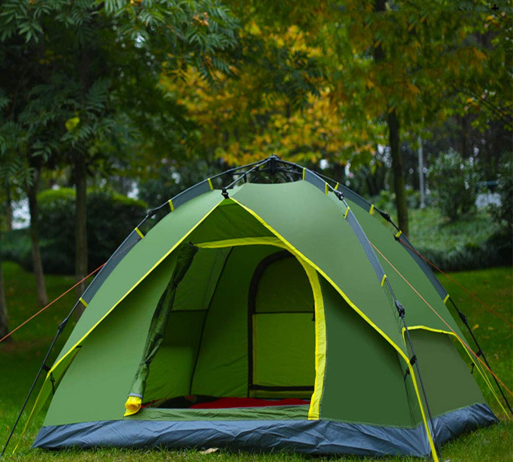 GFQ Family Camping Tents Instant Automatic pop up Tent 3-4 ...
