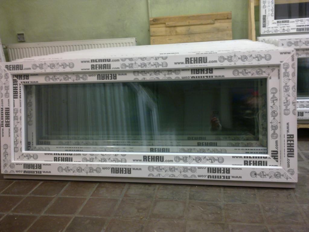 Frisch Kunststofffenster 150 x 60 (b x h), Rehau, 1 flügelig, weiss, kipp  YM11