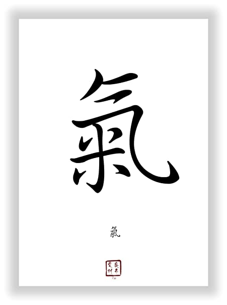 Chi Qi Life Energy In Chinese Japanese Kanji Calligraphy Font As