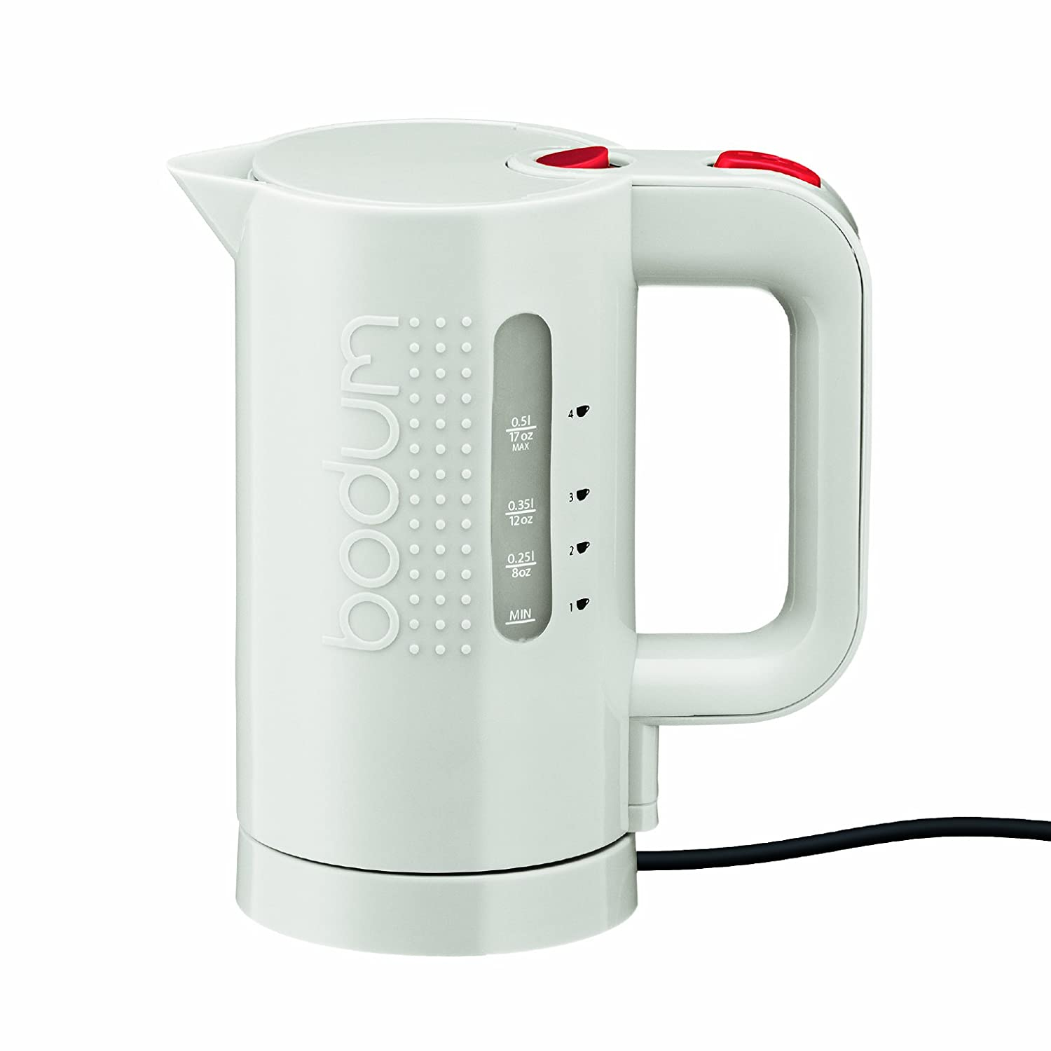 Bodum Bistro Electric Water Kettle, 17 Ounce, .5 Liter, White