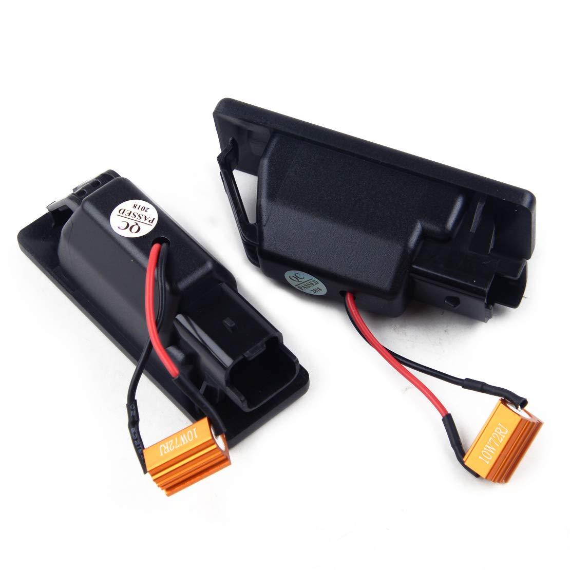 beler Paire de feux de num/éro de plaque dimmatriculation /à 18 LED sans erreur