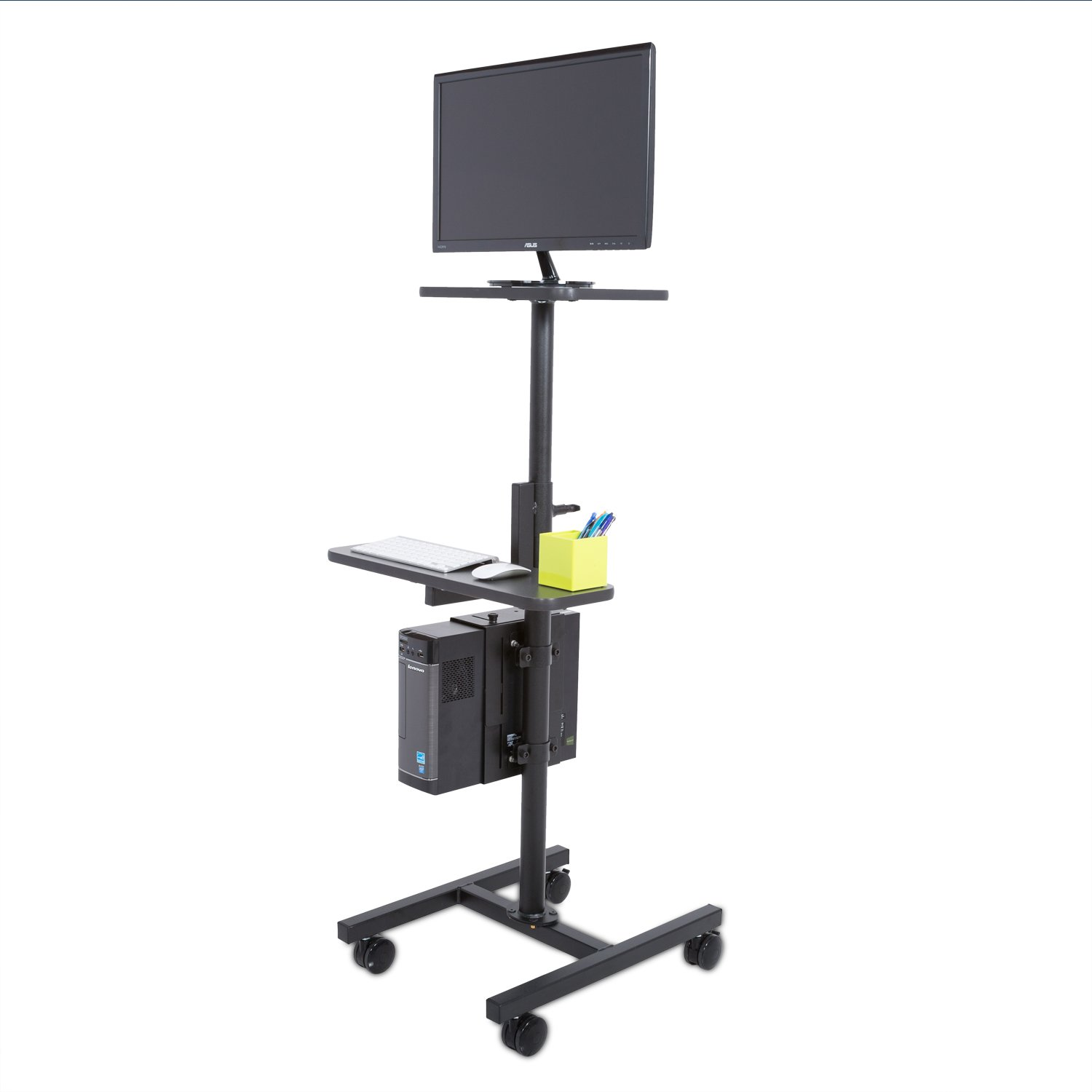 Height Adjustable Rolling Cart Workstation, Black by Versa Tables (Image #1)