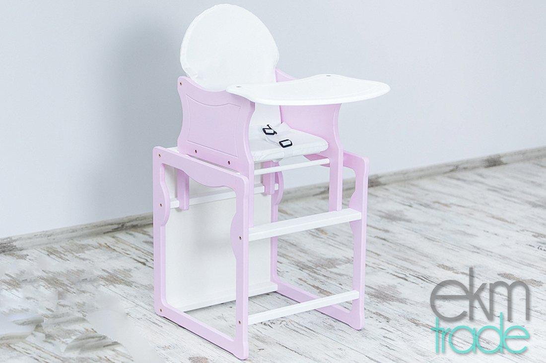 Hochstuhl tisch kombination : Rosa weiß kinderhochstuhl 2 in 1 kombi baby hochstuhl stuhl tisch
