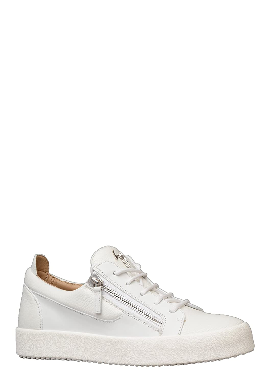d667c3f246c13 Giuseppe Zanotti Mens RU70000 Frankie Trainer in White: Amazon.co.uk: Shoes  & Bags