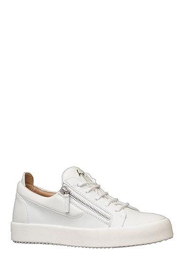10fb660140ec8 Giuseppe Zanotti Mens RU70000 Frankie Trainer in White  Amazon.co.uk  Shoes    Bags