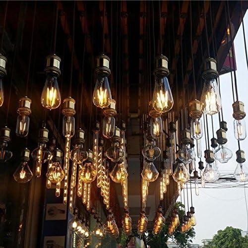 BXROIU Douille Vintage E27 Adaptateur Suspension Plafond Pendentif Lumi/ère De Lampe R/étro Vintage Antique Brass