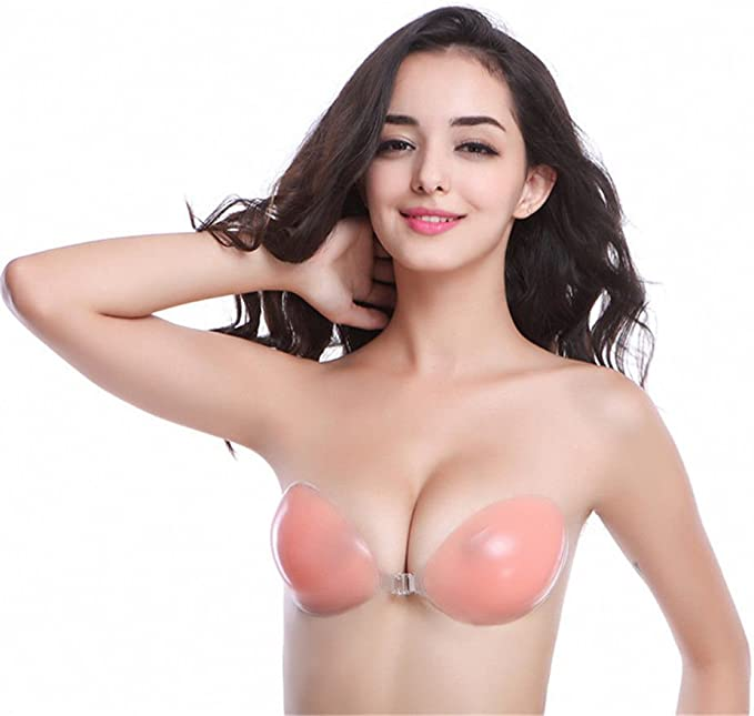 Generic Women Invisible Bra Silicone Gel Strapless Backless Adhesive Stick On Push Up