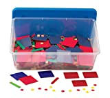 hand2mind Plastic Algebra Tiles Classroom Kit (30 Sets of 32 Pieces)