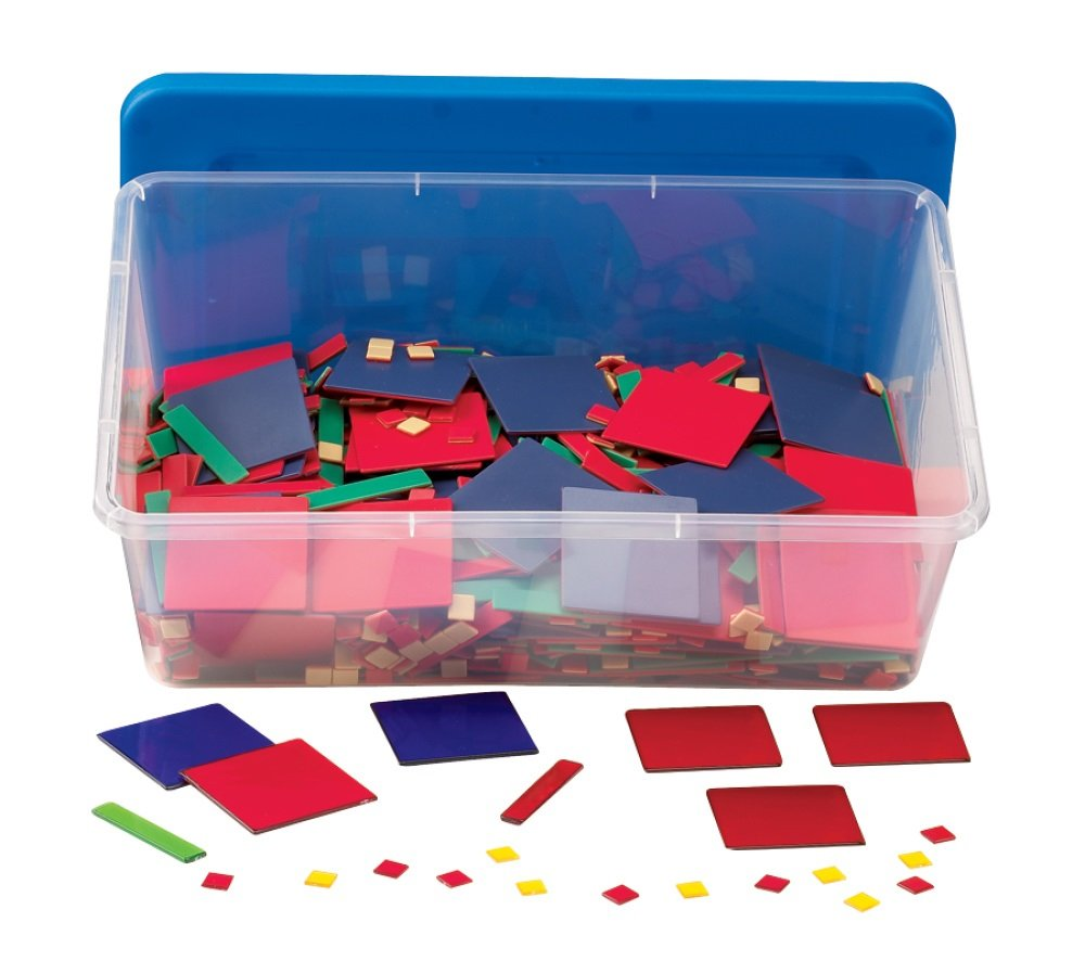 hand2mind Plastic Algebra Tiles Classroom Kit (30 Sets of 32 Pieces) by hand2mind