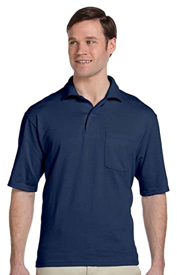 08aeb356b10 JERZEES - SpotShield 50/50 Sport Shirt with a Pocket at Amazon Men's ...