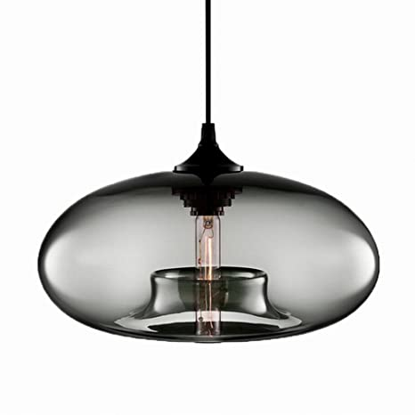 Newrays Hanging Glass Pendant Lights Kitchen Island Lights ...