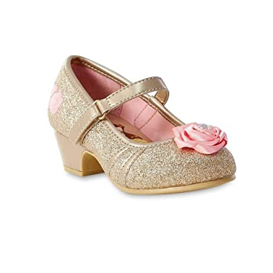 e8976935fa69 Disney Beauty and The Beast Toddler Girls  Princess Belle Gold Shoe (6 - (
