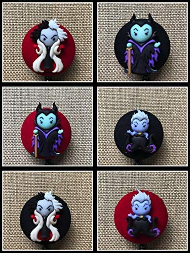 Disney Villains Retractable ID Badge Holder - Badge Reel Clip - Your Villain Choice -
