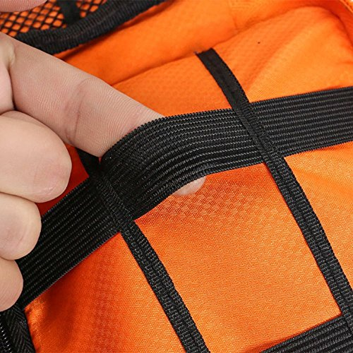 METORY Travel Accessories Electronics Organizer, Universal Cable Management Organizer Travel Bag For USB, Phone, iPad, Charger and Cable (Double Layer, Large, Grey and Orange) by METORY (Image #7)