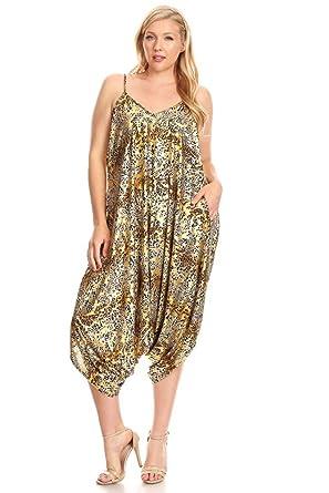 La Vie Design Plus Size Multicolored Print Romper Suit For Women