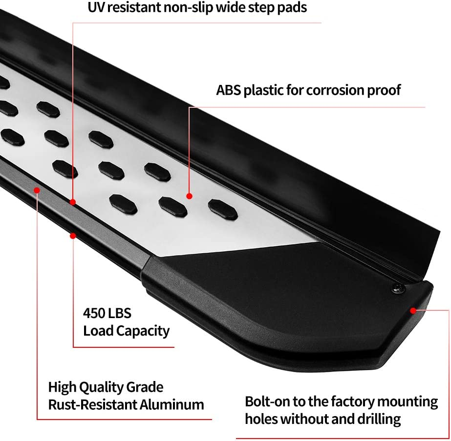 AUTOSAVER88 OE Style Running Boards Fit for 2016-2020 Honda Pilot SUV Running Boards Aluminum Side Steps Nerf Bars Step Rails