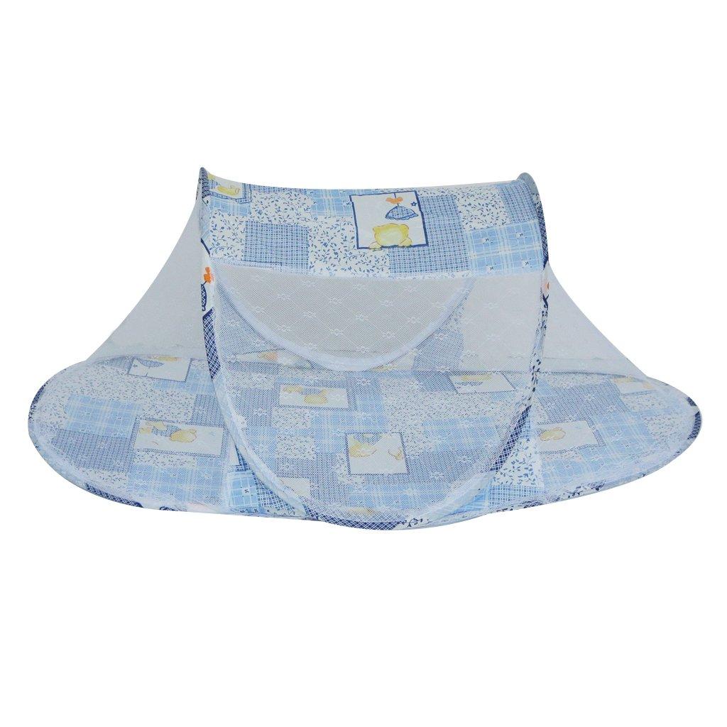 Blau 1 Bewegliche Babyzelt Faltbett Faltbare Baby-Moskito-Zelt Baby Reise Moskito Zelt Babybett Moskitonetz Wickelplatte Auflage //