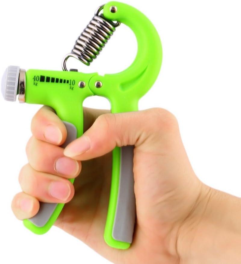 Adjustable Hand Power Grip Strengthener Exerciser Wrist Forearm Trainer 10-40kg