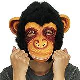 Affe Kopfmaske, Cusfull Neuheit Halloween-Kostüm Party Latex Tiermaske Affe Kopf Maske Headmaske Halloween-Party-Kostüm
