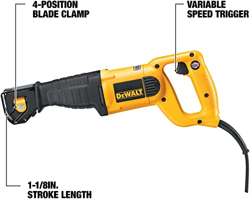 DEWALT Reciprocating Saw, 10-Amp DWE304