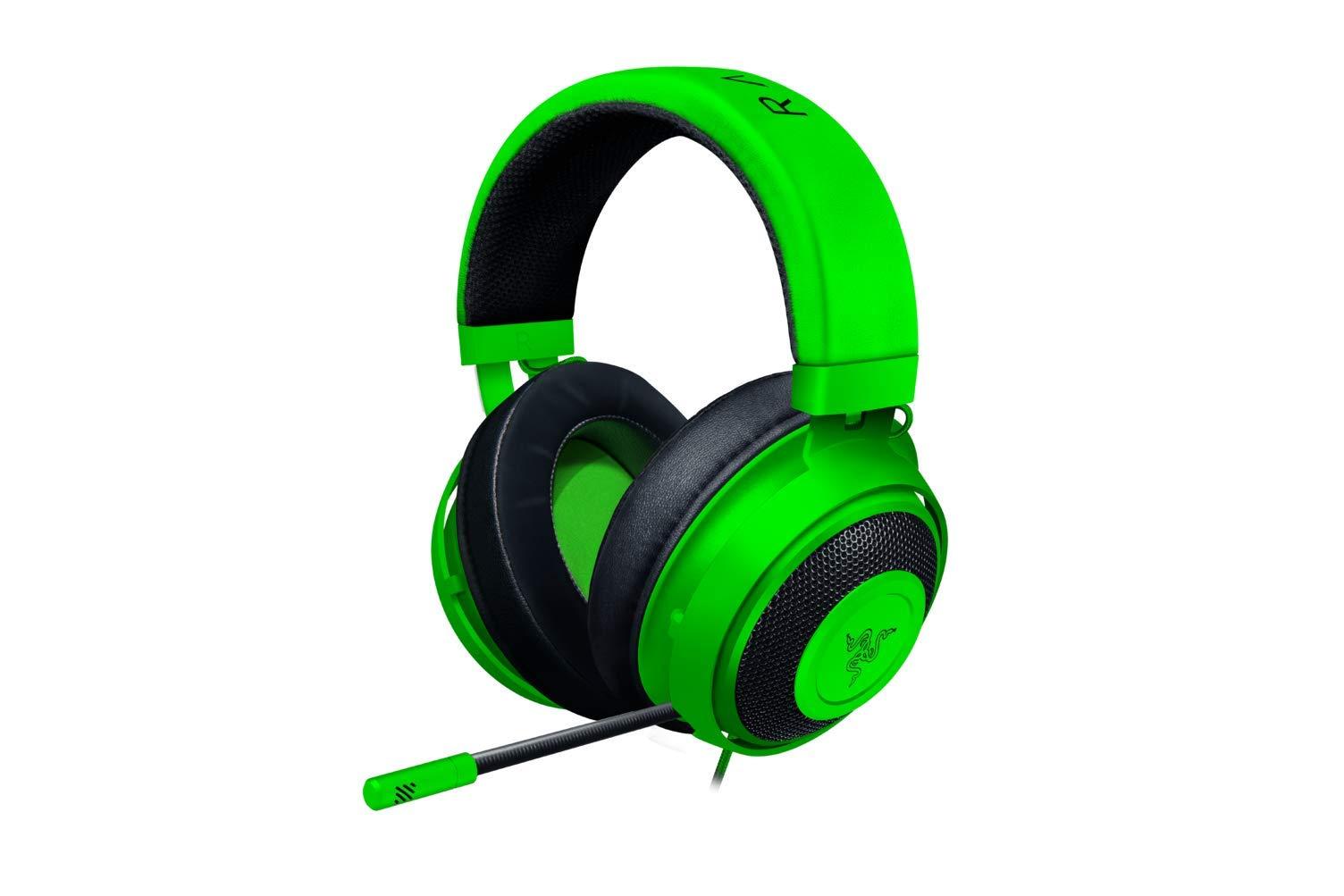 Razer Kraken Gaming Headset 2019: Lightweight Aluminum Frame - Retractable Noise Cancelling Mic - for PC, Xbox, PS4, Nintendo Switch - Green