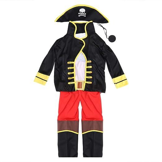 Amosfun - Disfraz de Pirata para Halloween, Navidad, Fiestas ...
