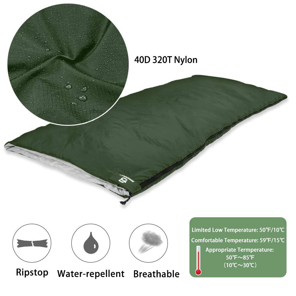 Bessport Lightweight Sleeping Bag 50 to 85 10 to 30 Camping Sleeping Bag for 3 Season Traveling, Camping, Hiking, Outdoor Activities 78.4 x29.5