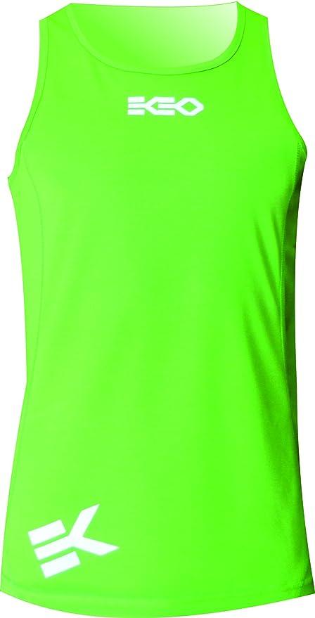 Camiseta sin mangas de color verde neón barata