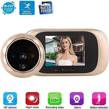 "2.8/"" LCD Digital HD Door Bell Viewer Peephole Camera Video Night Vision Doorbell"