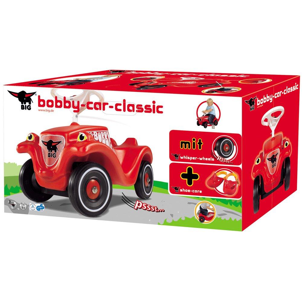 Bobby Car rot Classic 800056106 PSS Räder leise Schuhe schwarz Zubehör Big Neu