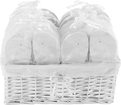 a59dbfae481ac Zohula White Wedding Premier Party Pack - 20 Pairs Flip Flops Mixed Sizes -  Sx3 Mx12