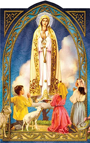 Our Lady of Fatima Holy Prayer Card Actual Size: 2⅝