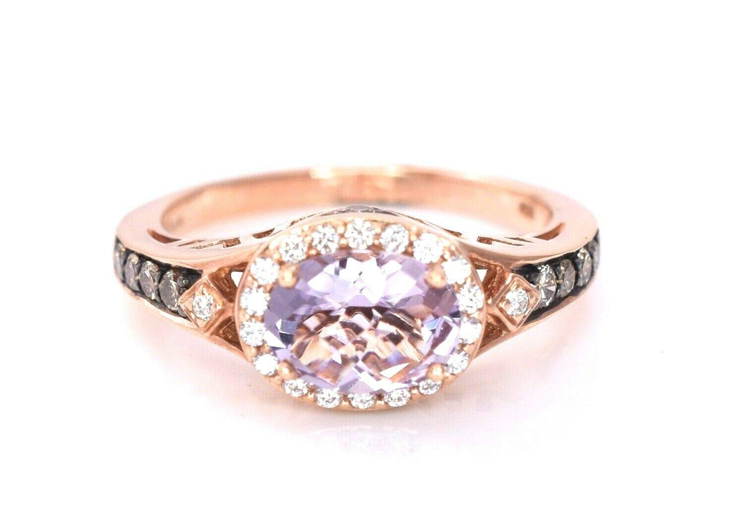 LeVian Pink Amethyst Chocolate Diamonds Cocktail Ring Jewelry 14k Rose Gold by LE VIAN