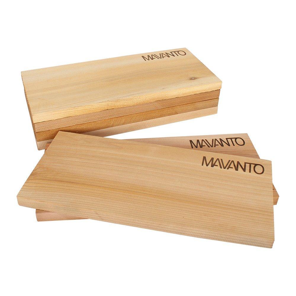 Legno di Ontano Naturale ciascuno di Circa 25 x 16 x 3 cm 2 Pezzi Dehner Tavole per la Cottura indiretta