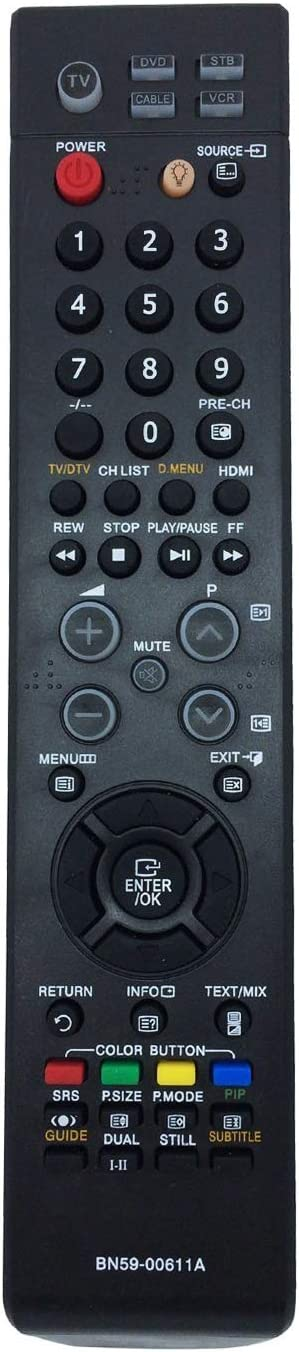 ALLIMITY Reemplace el Mando a Distancia BN59-00611A para Samsung LE32S67BDX LE32S60BDX LE32S86BD LE32S86BCX LE40S86BDX E32S86BDX LE37S86BDX LE37S67BDX LE40S67BDX LE40S86BCX LE46A86BD: Amazon.es: Electrónica