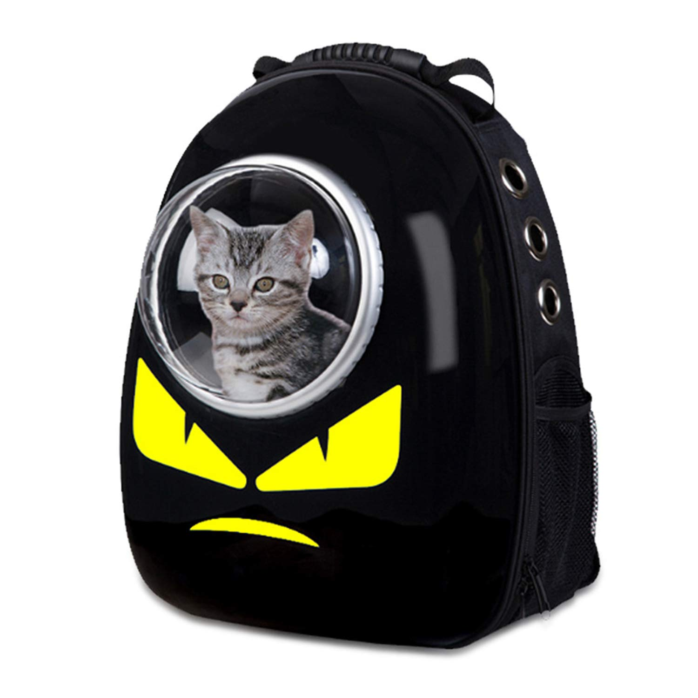MAOMEI Pet Space Bag, Luxury Dog Bag, Cat Out Bag, Backpack, Black, 32  29  42cm