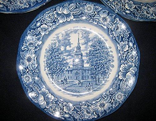 (Staffordshire Liberty Blue Dinner Plate)