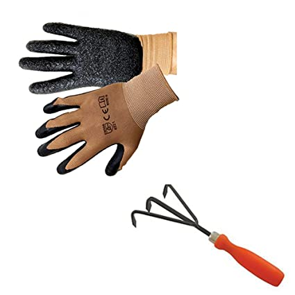 Trust Basket Composting Accessories (Gardening Gloves, Hand Garden  Cultivator)For Cultivating The Soil