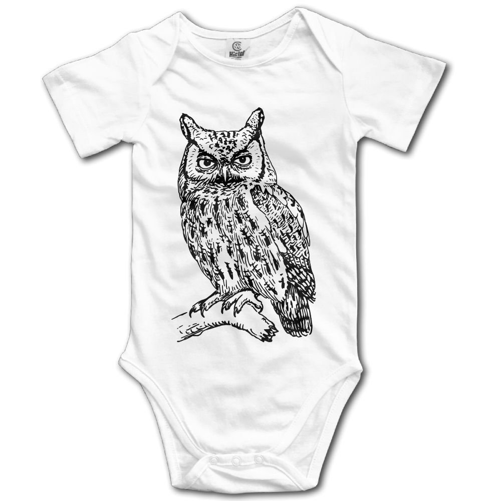 TO-JP Owl Baby Short-Sleeve Onesies Bodysuit Baby Outfits