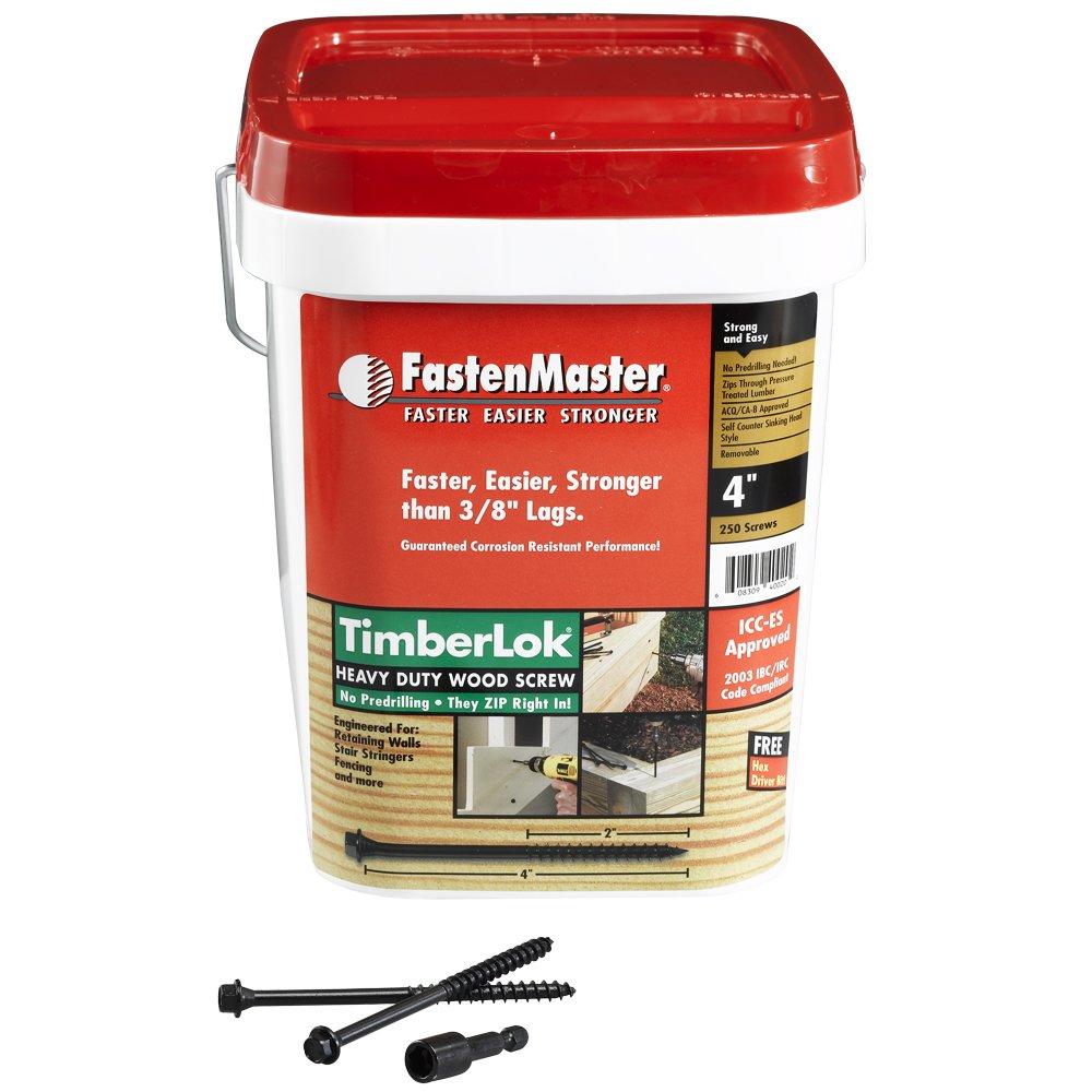 10 Inches 12-Count FastenMaster FMTLOK10-12 TimberLOK Heavy-Duty Wood Screw
